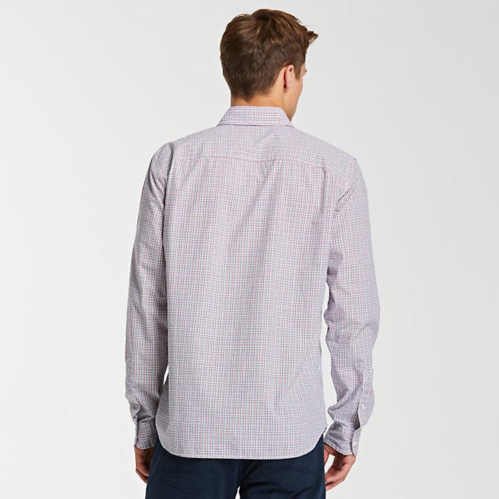 Men's Slim Fit Mini Check Poplin Shirt-