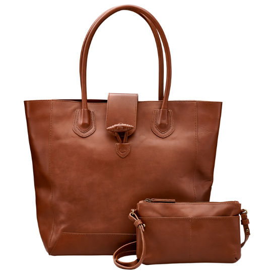 Winding Brook Classic Leather Tote Bag