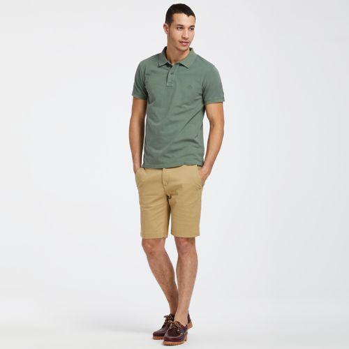 Men's Sunwashed Jersey Polo Shirt-