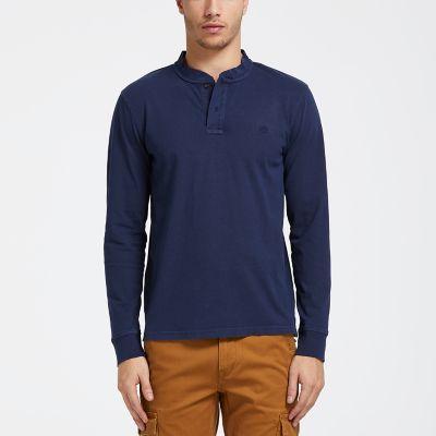 Men's Sunwashed Jersey Henley Shirt