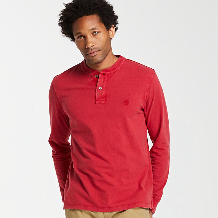 Men's Sunwashed Jersey Henley Shirt-