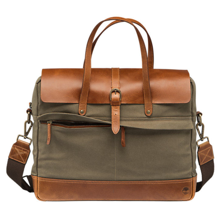 Nantasket Waxed Canvas Briefcase-