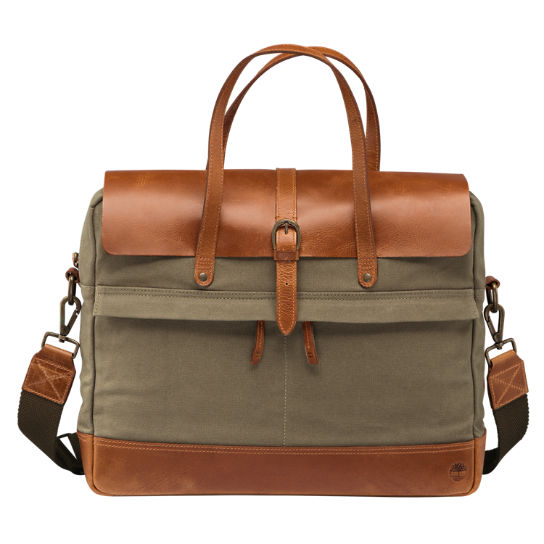 Nantasket Waxed Canvas Briefcase