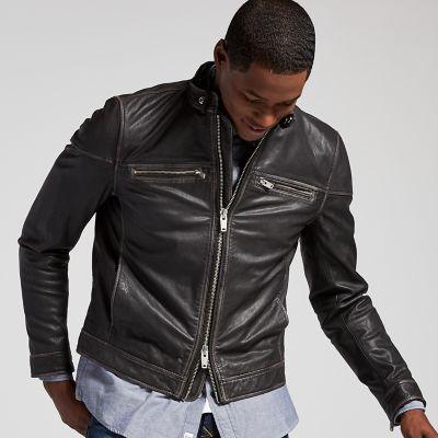 Men's Kinsman Mountain Leather Bomber Jacket