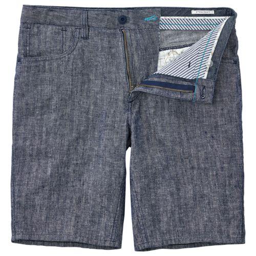 Men's Squam Lake Straight Fit Linen Short-
