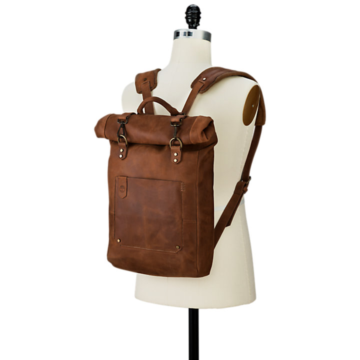 Walnut Hill 24-Liter Water-Resistant Roll-Top Leather Backpack-