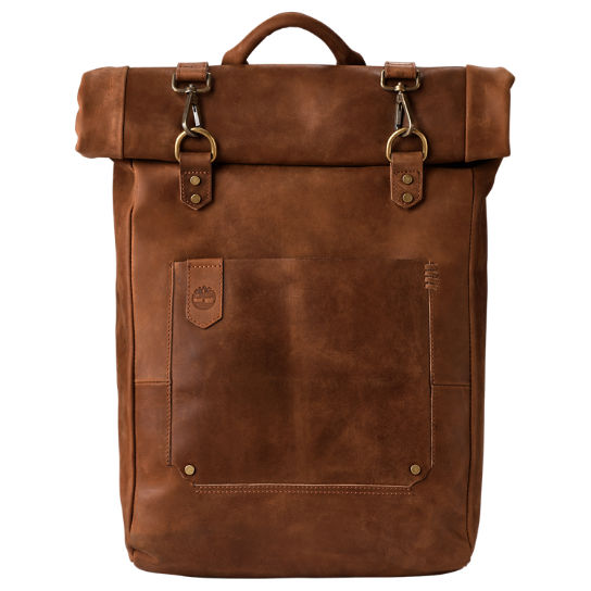 Walnut Hill 24-Liter Water-Resistant Roll-Top Leather Backpack