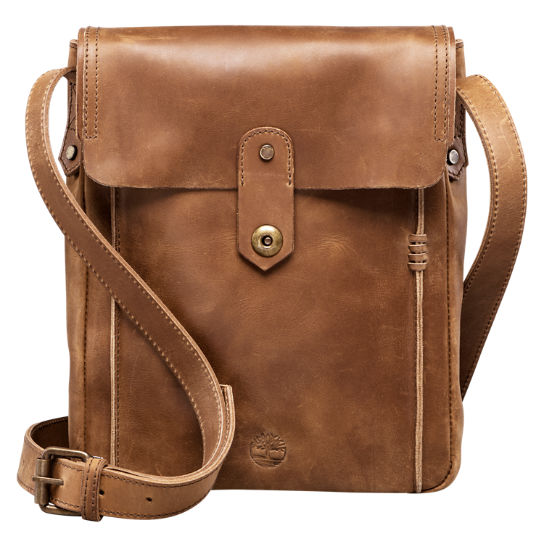 Walnut Hill Water-Resistant Leather Shoulder Bag