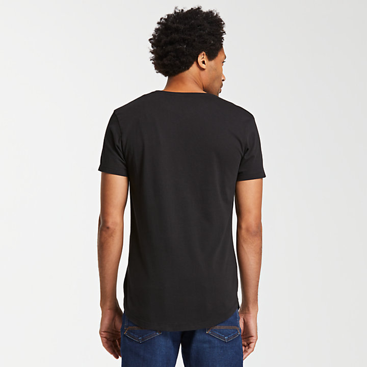 Men's Slim Fit Divided Tree Logo T-Shirt-
