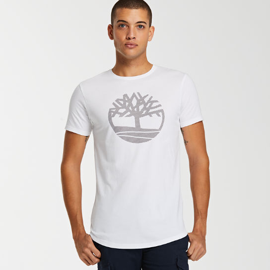 Men's Slim Fit Divided Tree Logo T-Shirt