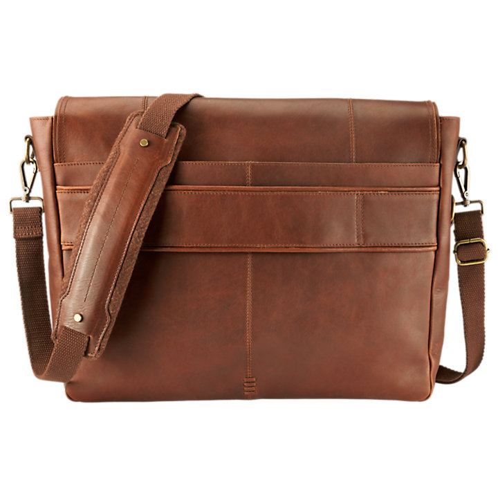 Walnut Hill Water-Resistant Leather Messenger Bag-