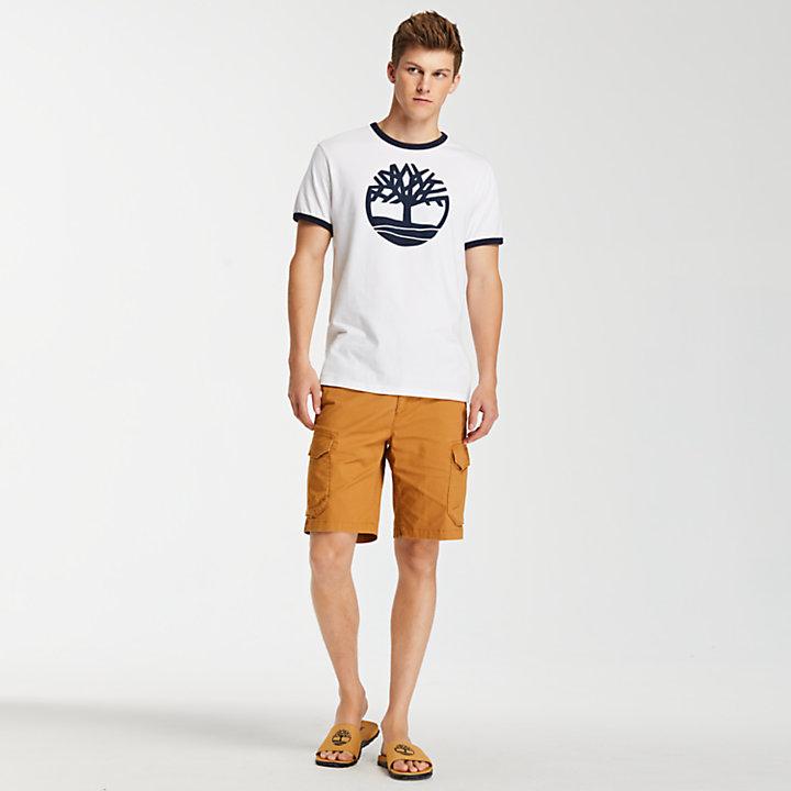Men's Crackle Tree Logo Ringer T-Shirt-