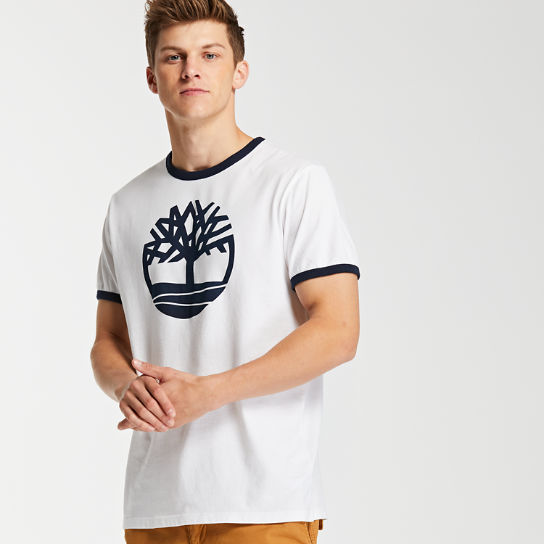 Men's Crackle Tree Logo Ringer T-Shirt