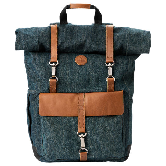 Walnut Hill 18-Liter Denim Roll-Top Backpack