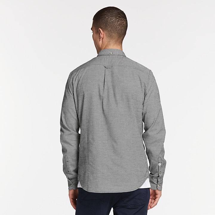 Men's Back River Slim Fit Twill Houndstooth Shirt-