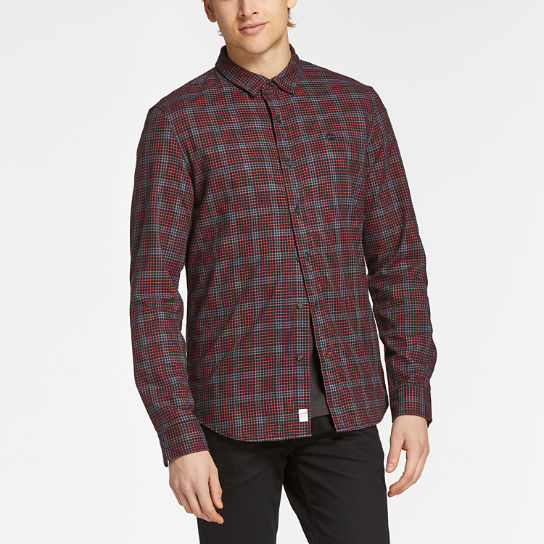 Men's Back River Slim Fit Herringbone Flannel Shirt