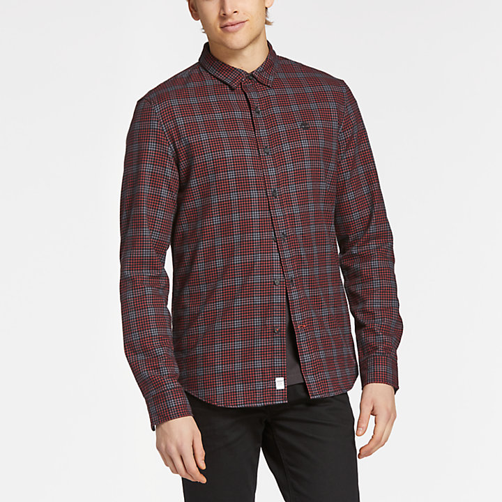Men's Back River Slim Fit Herringbone Flannel Shirt-