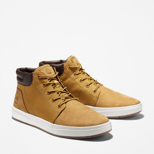 Men's Davis Square Leather/Fabric Chukka Shoes-