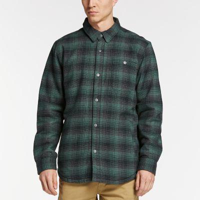 Men's Fleece-Lined Plaid Shirt Jacket