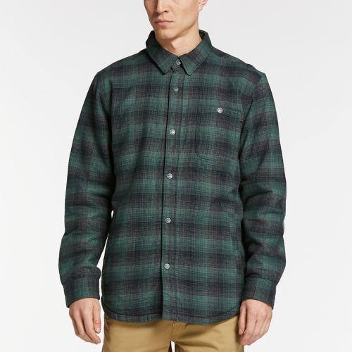 Men's Fleece-Lined Plaid Shirt Jacket-