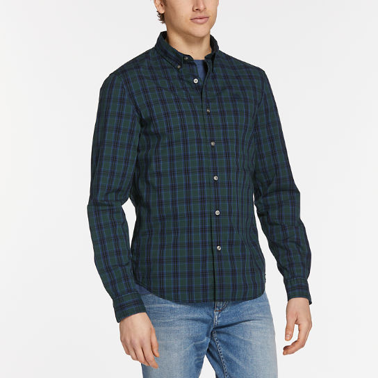 Men's Saco River Slim Fit Stretch Check Shirt