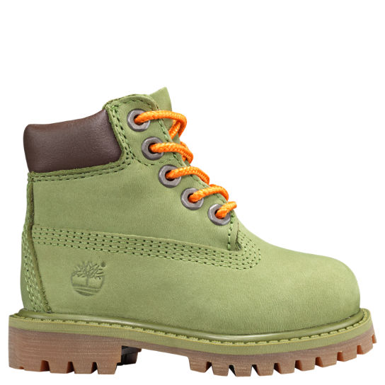 TIMBERLAND 6 INCH PREMIUM NUBUCK WHEAT FUR LINED TODDLER SIZE BOOTS 89874