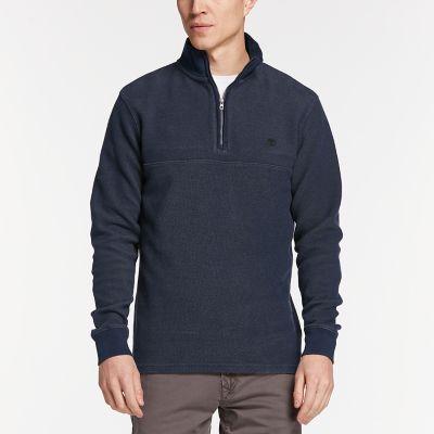 Men's Fort River Quater-Zip Henley Shirt