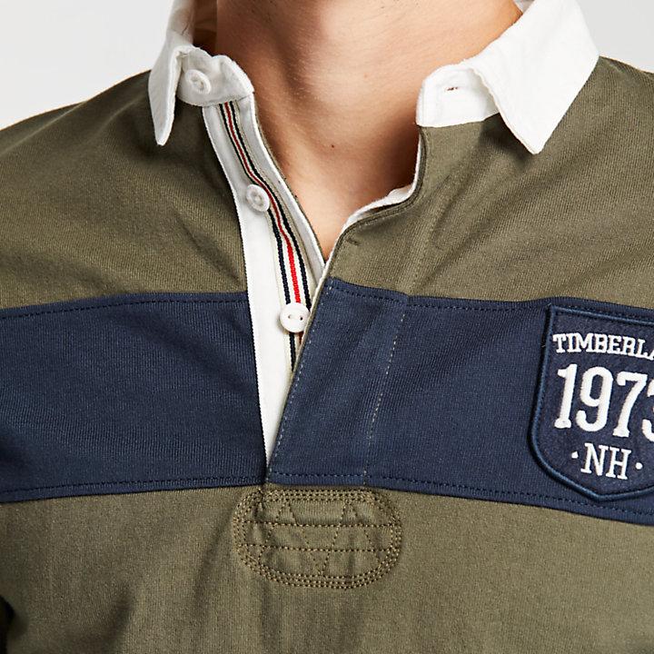 Men's Slim Fit Color Block Rugby Shirt-