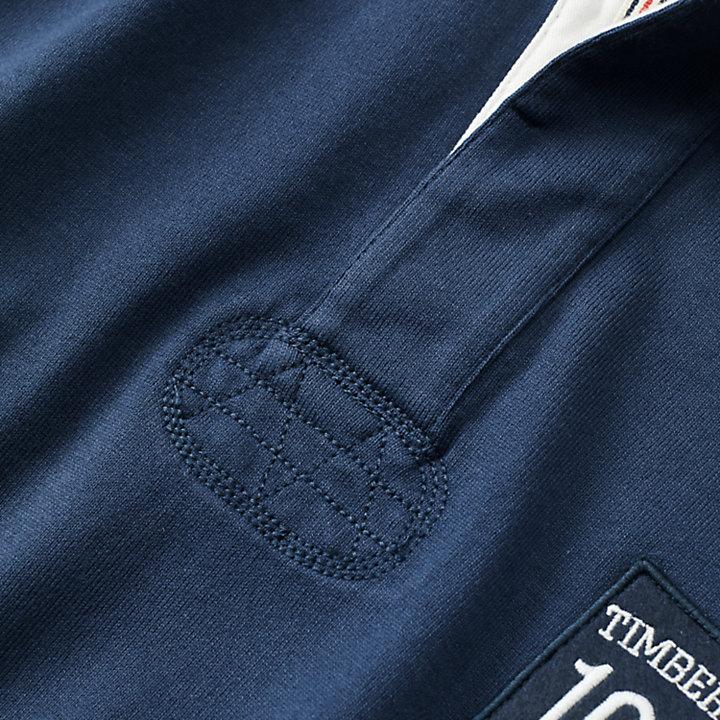 Men's Slim Fit Logo Badge Rugby Shirt-