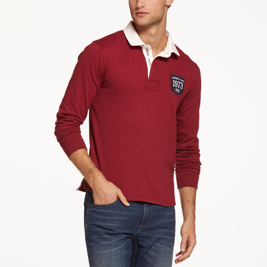 Men's Slim Fit Logo Badge Rugby Shirt