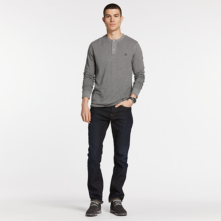 Men's Slim Fit Raglan Sleeve Henley Shirt-