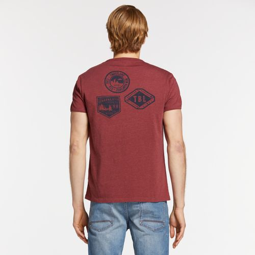 Men's Faded Logo Badge Graphic T-Shirt-