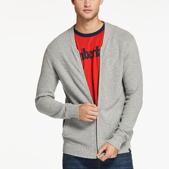 Men's Cashmere Blend Zip Cardigan Sweater