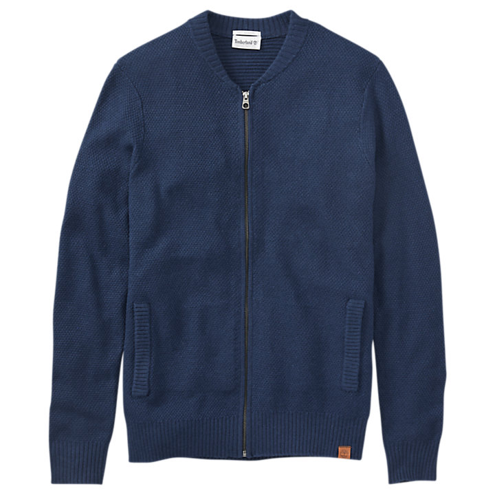 Men's Cashmere Blend Zip Cardigan Sweater-