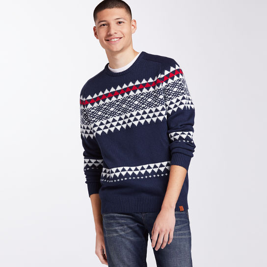 Men's Cashmere Blend Fairisle Sweater