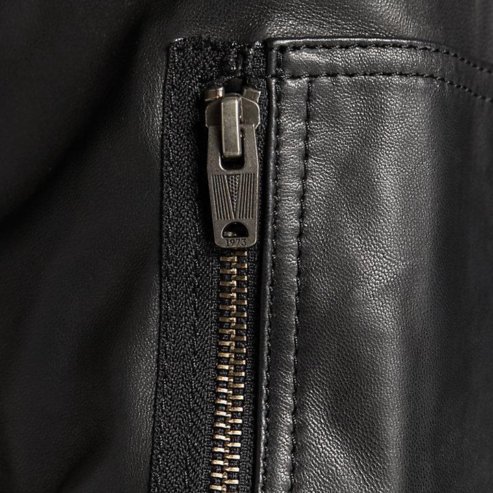 Men's Classic Leather Bomber Jacket-