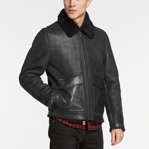 Men's Shearling Leather Jacket-