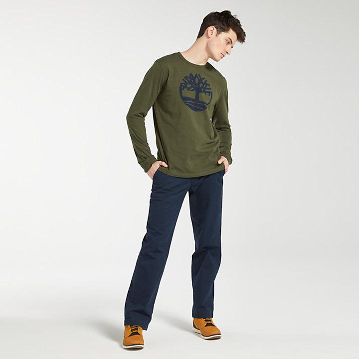 Men's Long Sleeve Tree Logo T-Shirt-