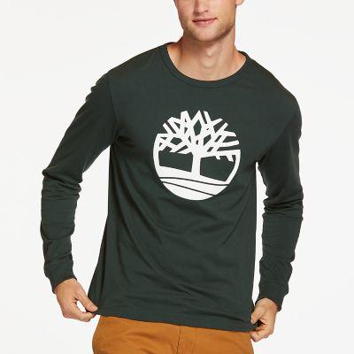 Men's Long Sleeve Tree Logo T-Shirt