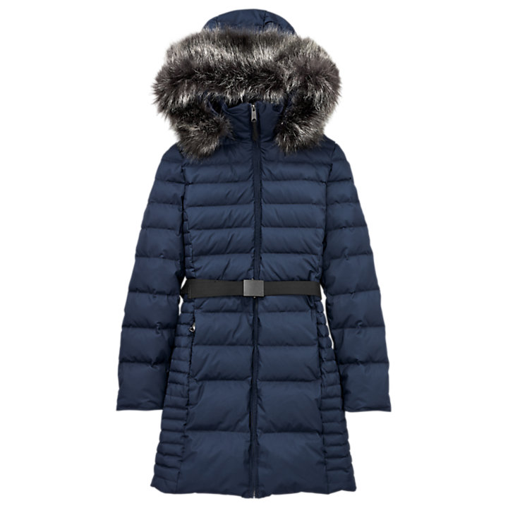 Women's Long Quilted Down Jacket-