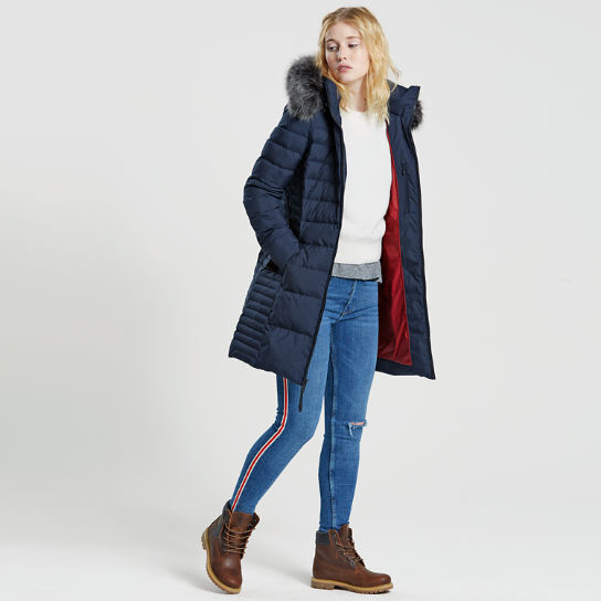 Women's Long Quilted Down Jacket