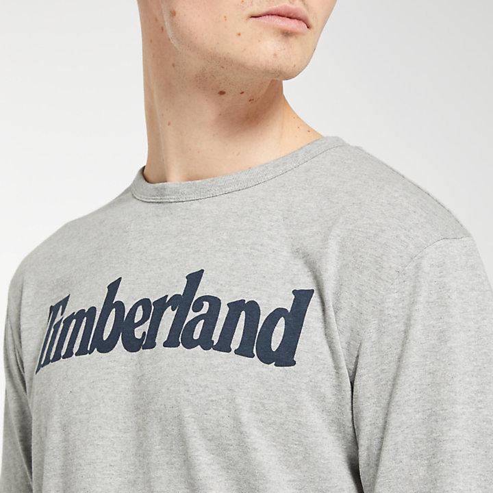 Men's Long Sleeve Linear Logo Ringer T-Shirt-