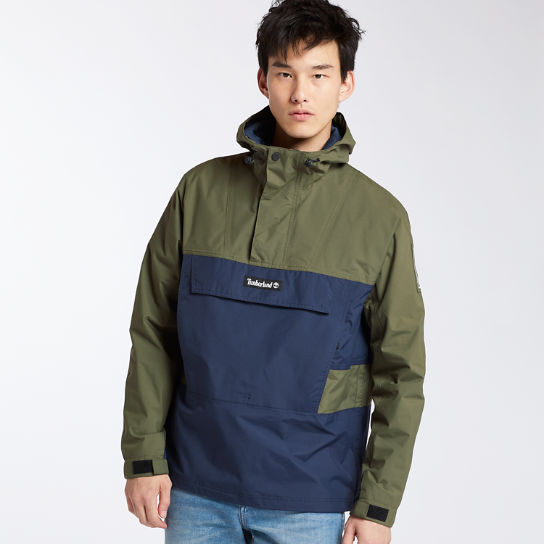 Men's Waterproof Colorblock Pullover Jacket