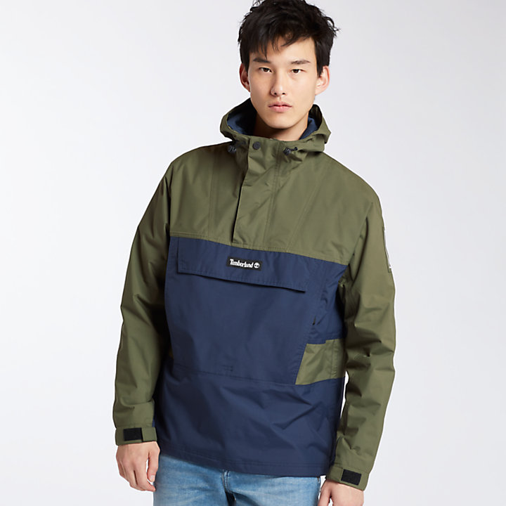Men's Waterproof Colorblock Pullover Jacket-