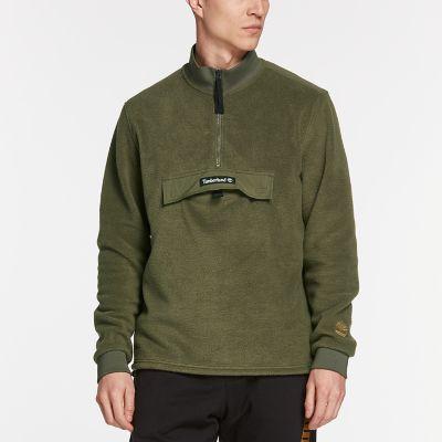 Men's Quarter-Zip Funnel Neck Fleece Shirt