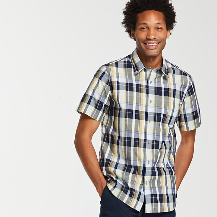 Men's Small Check Madras Shirt-