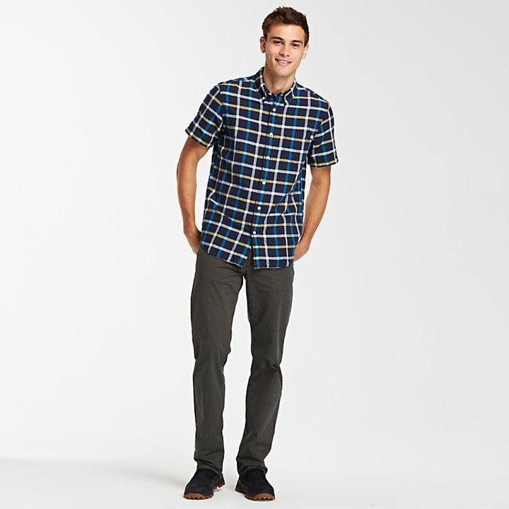 Men's Taylor River Linen Blend Check Shirt-