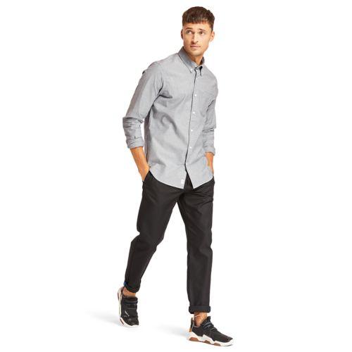 Men's Long Sleeve Stretch Oxford Shirt-