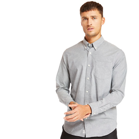 Men's Long Sleeve Stretch Oxford Shirt