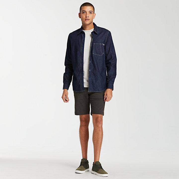 Men's Denim Slim Fit Utility Shirt-